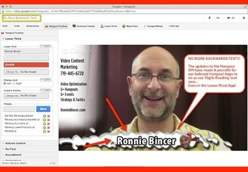 Google+ Hangout App Updates... no more Backwards Text! | Ronnie Bincer | YouTube Tips and Tutorials | Scoop.it