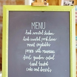 Green Framed Chalkboard Menu | DIY Weddings and Home | Scoop.it