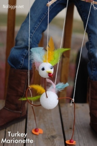 Turkey Marionettes | Kids Craft | Scoop.it