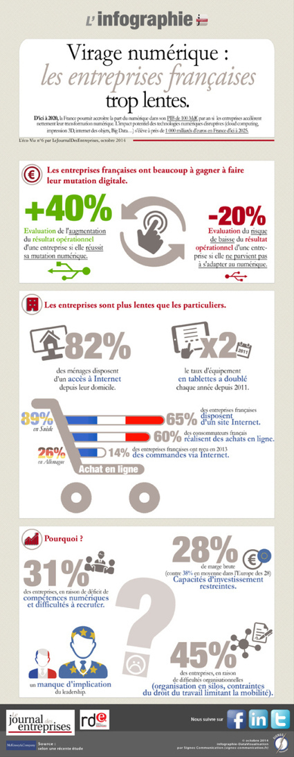 Infographie – La transformation digitale | TPE-PME | Scoop.it