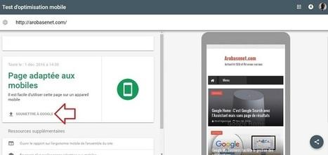 Référencer son site sur Google via l'outil de Test du mobile-friendly   BeinWeb - Conseils et Formation Webmarketing pour entrepreneurs et PME motivés   Scoop.it