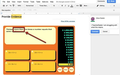 5 Ways Students Can Use Google Docs in Math | college and career ready | Scoop.it