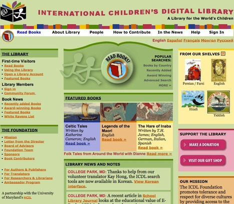 ICDL - International Children's Digital Library | English Language | Scoop.it