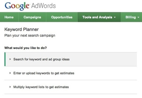 AdWords Keyword Planner : outil de planification de mots-clés | Curation SEO & SEA | Scoop.it
