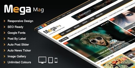 Mega Mag - Responsive Magazine Blogger Template | Blogger themes | Scoop.it