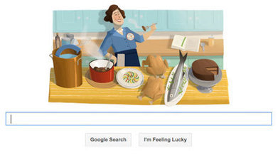 Julia Child honoured in Google doodle | The Authentic Food & Wine Experience | Scoop.it