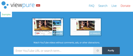 ViewPure. Les vidéos de Youtube et seulement les vidéos | TUICE_primaire_maternelle | Scoop.it