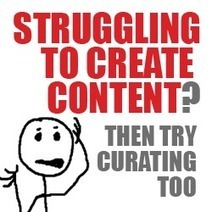 Struggling to Create Enough Content? Then Try Curating Too. | Social Business Influencers | Scoop.it