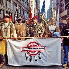 Native Americans marching in Veteran Day Parade in New York, Tony Moonhawk, Poospatuck Indian on the right!!!! | American Indian Independent Broadcasting Network MAGAZINE | Scoop.it