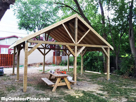 DIY 20x20 Pavilion | MyOutdoorPlans | Free Woodworking Plans and Projects, DIY Shed, Wooden Playhouse, Pergola, Bbq | Garden Plans | Scoop.it