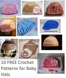 Free Crochet Patterns and Designs by LisaAuch: 10 Fabulous FREE Crochet Patterns for Baby Hats | Crochet | Scoop.it