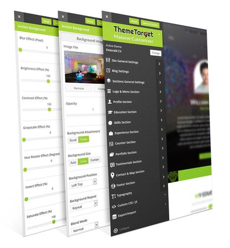 Emerald CV - Ultra-Customizable WordPress Resume Theme | wp theme | Scoop.it