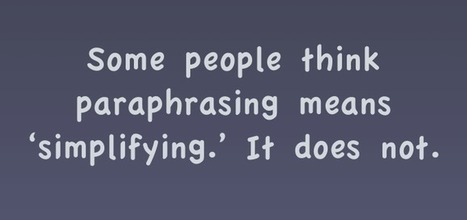 Paraphrasing Is Key to Deeper Comprehension | Cool School Ideas | Scoop.it