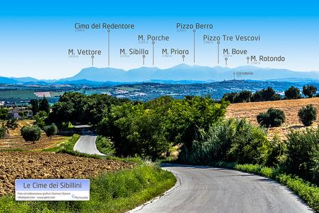 I nomi delle cime dei Sibillini da Morrovalle (infografica) | Le Marche un'altra Italia | Scoop.it