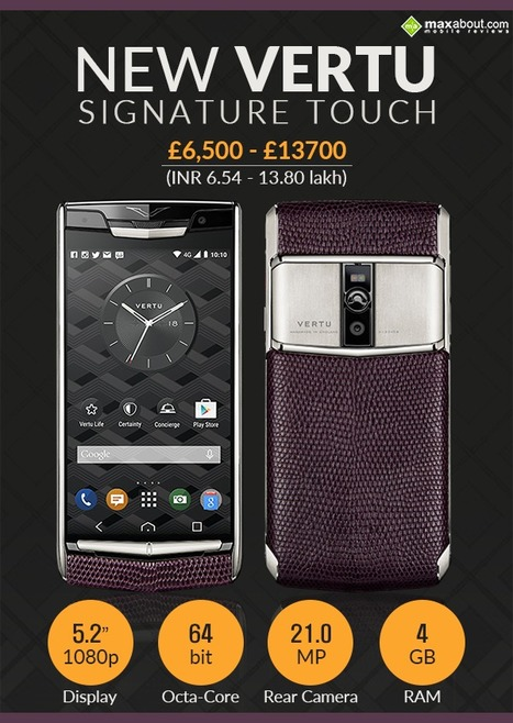 Vertu Signature Touch (2015) Features, Specifications, Details | Maxabout Mobiles | Scoop.it