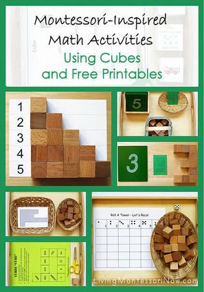 Montessori Monday – Math Activities Using Cubes and Free Printables | Montessori Inspired | Scoop.it