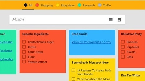 Category Tabs for Google Keep Makes Organizing Your Notes Easy | Education Technology - theory & practice | Scoop.it