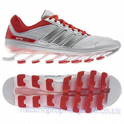 Mens Adidas Springblade Running Shoes White Sliver Red.jpg (465x465 pixels)   fashionshoes   Scoop.it
