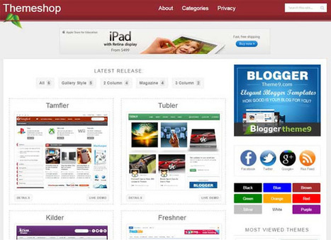 Theme Shop Responsive Blogger Template - My Blogging Lab | Blogger themes | Scoop.it