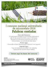 I Concurso Nacional Universitario de Microrrelato EAFIT | microrrelatos | Scoop.it
