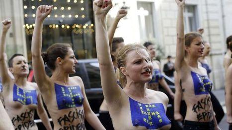 Les Femen perturbent une conférence de presse de Marine Le Pen | La montée du FN - France | Scoop.it