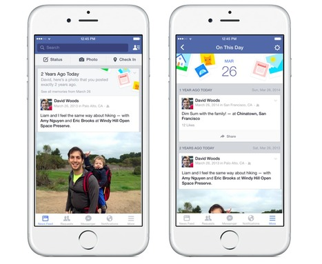 Facebook officially launches nostalgia-inducing 'On This Day' feature | Pierre-André Fontaine | Scoop.it