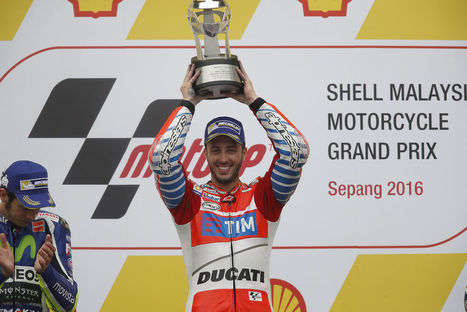 MotoGP: Dovizioso Puts Ducati on the Top Step in Sepang | Ductalk Ducati News | Scoop.it