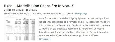 Atelier en modélisation financière dans Excel, dirigé par un vrai pro! | Modélisation financière | Scoop.it