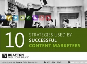 10 Strategies Used by Successful Content Marketers | Managing Social Media Leapfrawg | Scoop.it