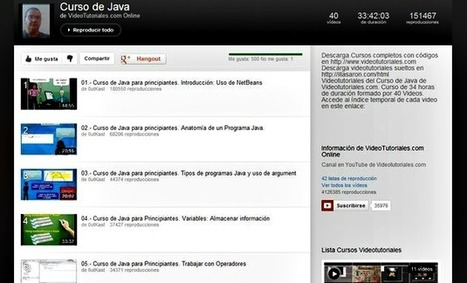Vídeo tutorial gratuito de JAVA en 40 vídeos en español | Recull diari | Scoop.it
