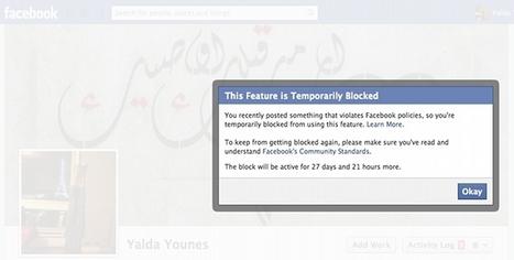 Les Inrocks - Facebook réduit au silence les militantes du monde arabe | Antisocial | Scoop.it