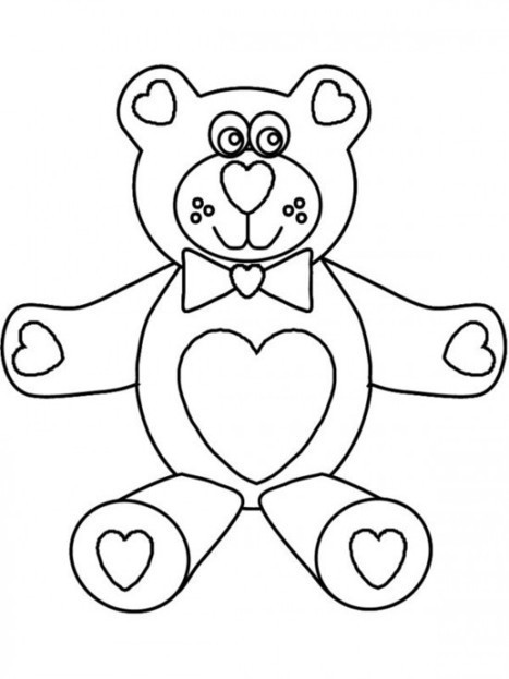 Happy Valentine's Day Coloring Pages Free - DayColoringPages.com | Coloring pages | Scoop.it