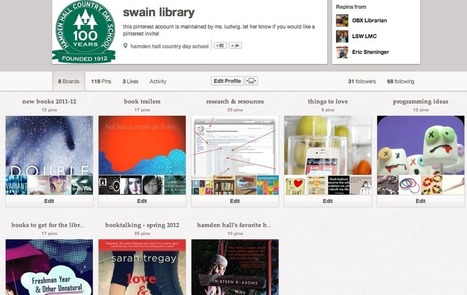 Using Pinterest in school libraries | Sarah Ludwig | Skolbiblioteket och lärande | Scoop.it