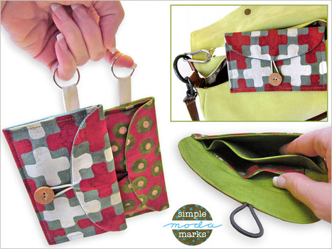 Necessities On The Go Mini Clutch in Simple Marks by Moda Fabrics | Sew4Home | Einfach Nähen | Scoop.it