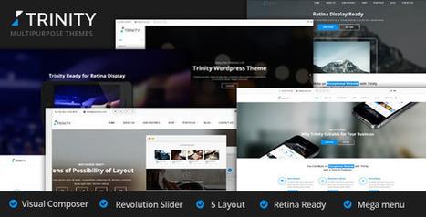 25 flat business wordpress themes for corporate sites 2014 | Designmain.com - Design, Inspiration & Freebies | Scoop.it
