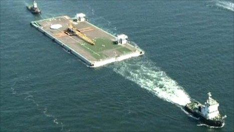 [vidéo] La méga-barge en partance pour Fukushima   BBC   Japon : séisme, tsunami & conséquences   Scoop.it