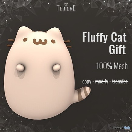 Fluffy Cat Gift by Tediore | Teleport Hub - Second Life Freebies | Second Life Freebies | Scoop.it