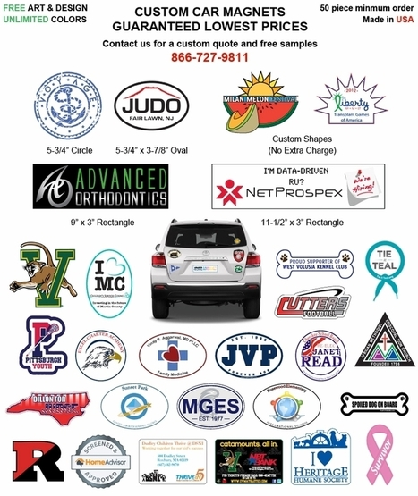 Car Magnets, an Effective Tool for Outdoor Marketing | Custom Car Bumpers Magnets, Decals & Stickers | Scoop.it