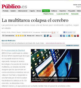 [PQS] Para que sepan: La multitarea colapsa el cerebro | Educación a Distancia y TIC | Scoop.it