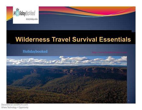 Wilderness Travel Survival Essentials, Business | Prepper Supplies | Scoop.it