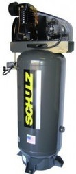 Schulz 5HP Air Compressor 80 Gallon Vertical Tank / Single Phase | Oil Flooded Compressor | Scoop.it