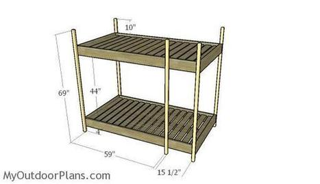 Triple Bunk Bed Plans | MyOutdoorPlans | Free Woodworking Plans and Projects, DIY Shed, Wooden Playhouse, Pergola, Bbq | Garden Plans | Scoop.it