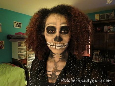 Skeleton Makeup Tutorial Halloween Costume - Super Beauty Guru | The Super Beauty Guru | Scoop.it