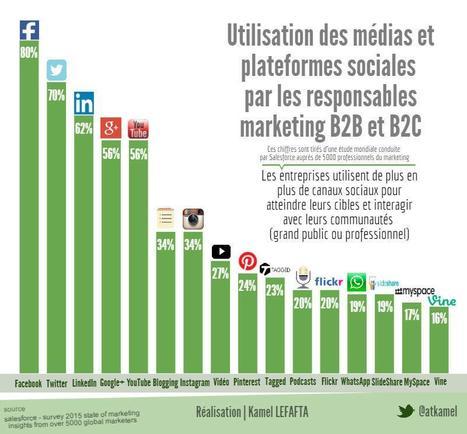 [infographie] L'utilisation des médias et plateformes sociales par les responsables marketing en B2B et B2C | Social Media and E-Marketing | Scoop.it