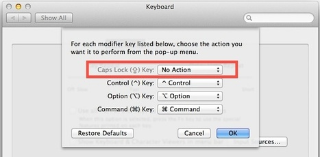 Disable the Caps Lock Key on a Mac | All Things Mac | Scoop.it
