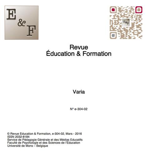 Education & Formation : e-304-02 - Un numéro Varia vient également d'être publié | Revue Education & Formation | Scoop.it
