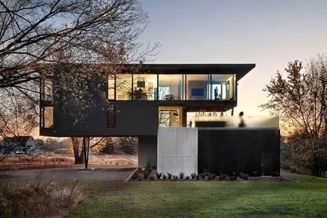 maison contemporaine avec porte faux e. Black Bedroom Furniture Sets. Home Design Ideas