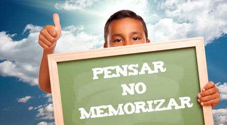 Memorizar: Enseñar a pensar en lugar de memorizar | Educació | Scoop.it