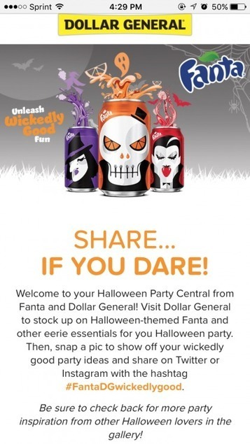 Coca-Cola and Dollar General partner for Halloween social campaign plus beacon integration - Mobile Commerce Daily - Software and technology | Mobile Technology | Scoop.it