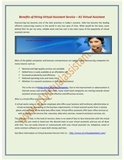 Hire the Reliable Virtual Assistant Services to Earn More – A1 Virtual Assistant | Virtual Assistant | Scoop.it